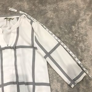41 Hawthorn Tops - 41 HAWTHORN Windowpane Blouse, White/Black